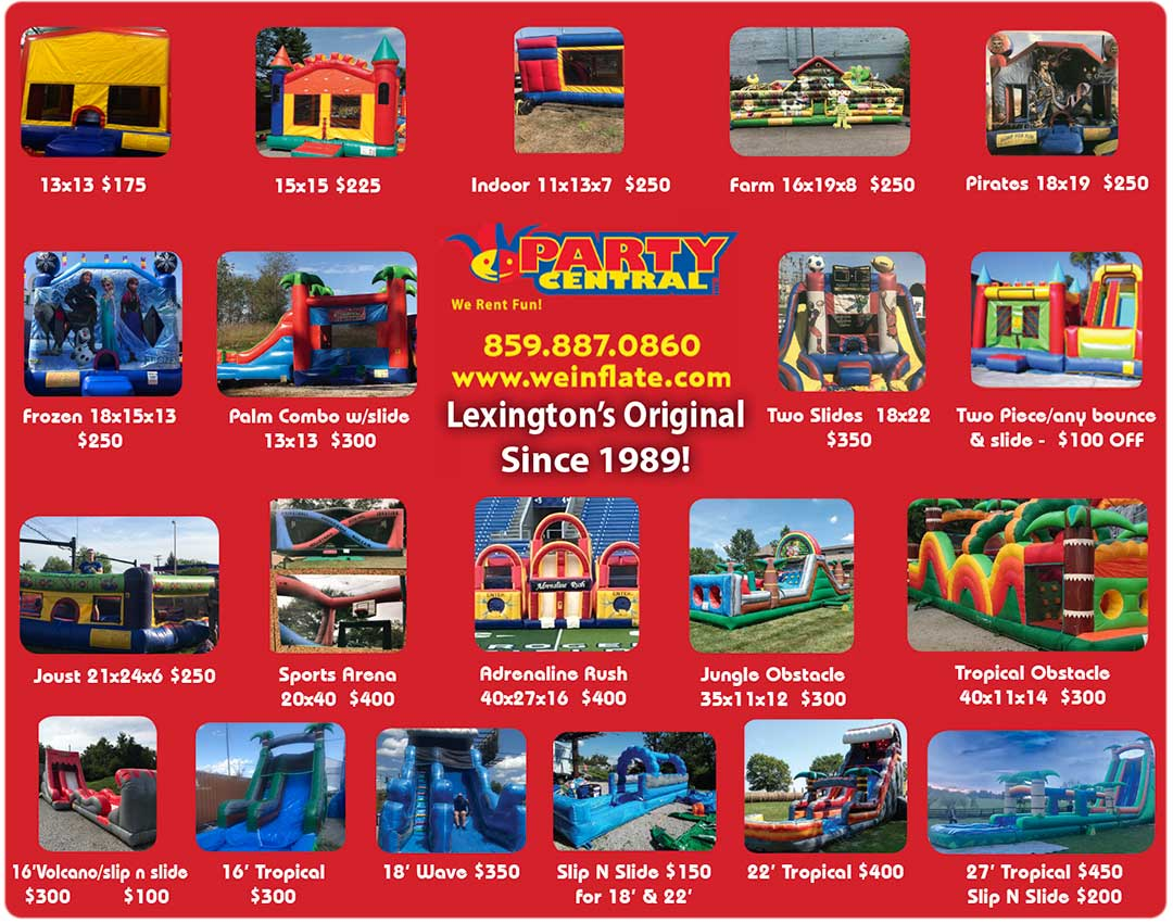 Party Central of Kentucky - We Rent Fun!